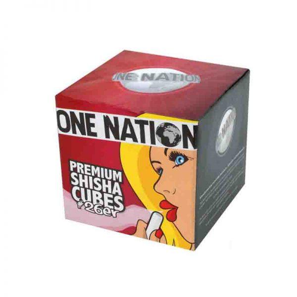 One nation 1kg kömür 26mm küp nargile kömürü